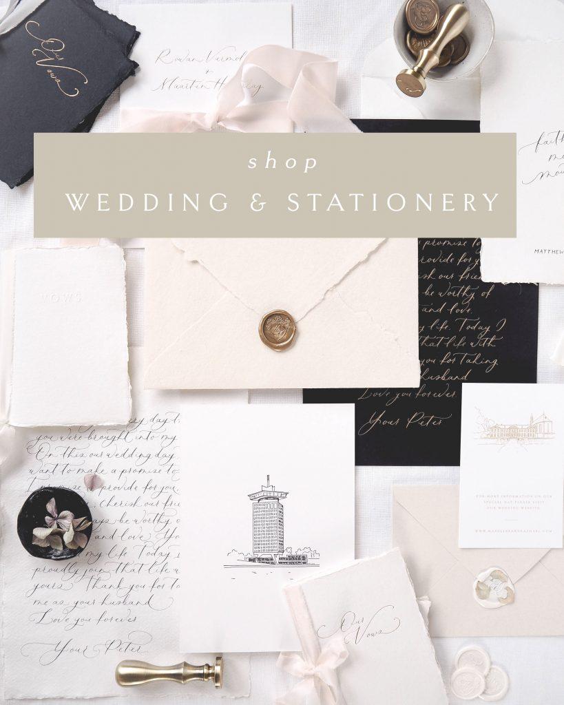 LA LETTRE Kalligrafie, De design boutique voor luxe papierwaren en uitnodigingen. Vol zorg en aandacht ontwerpen mijn team en ik luxe stationery voor bruidsparen die verlangen naar een unieke beleving en op zoek zijn naar hoogwaardige en unieke stationery voor hun bruiloft; voor bruidsparen met waardering voor kunst en design; en voor bruidsparen die houden van prachtige, rijke details.